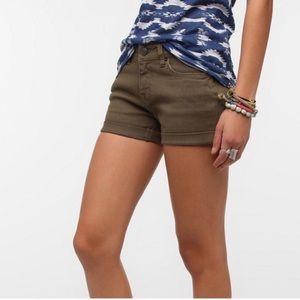 BDG olive Alexa mid-rise shorts